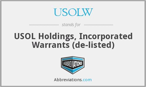 What does USOLW stand for?