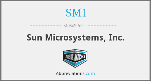 What does .SMI stand for?