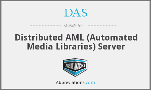 DAS - Distributed AML (Automated Media Libraries) Server