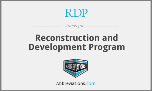 RDP - Reconstruction And Development Programme