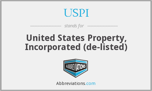 USPI - United States Property, Inc.