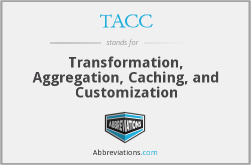 TACC - Transformation, Aggregation, Caching, and Customization