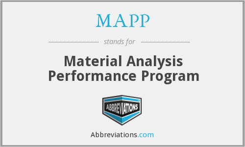 MAPP - Material Analysis Performance Program