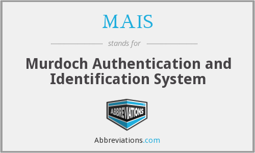 MAIS - Murdoch Authentication and Identification System