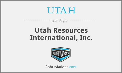 UTAH - Utah Resources International, Inc.