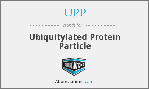 UPP - Ubiquitylated Protein Particle