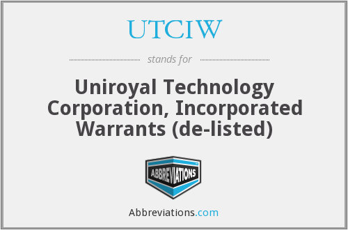 What does UTCIW stand for?