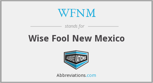 What does WFNM stand for?