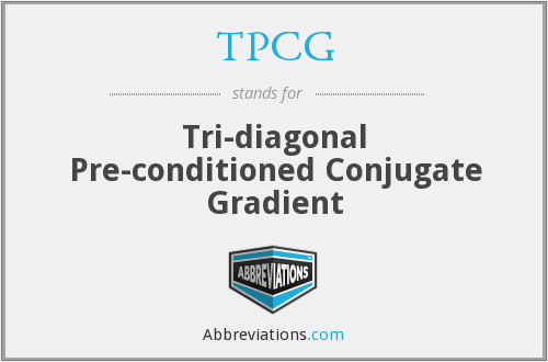 TPCG - Tri-diagonal Pre-conditioned Conjugate Gradient