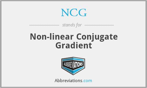 NCG - Non-linear Conjugate Gradient