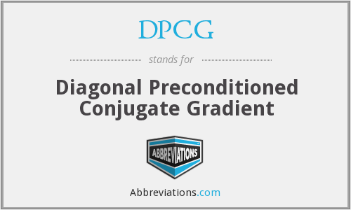 DPCG - Diagonal Preconditioned Conjugate Gradient