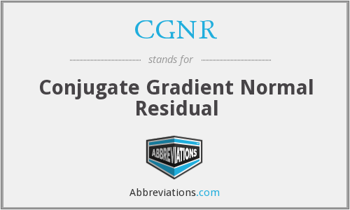 What does CGNR stand for?