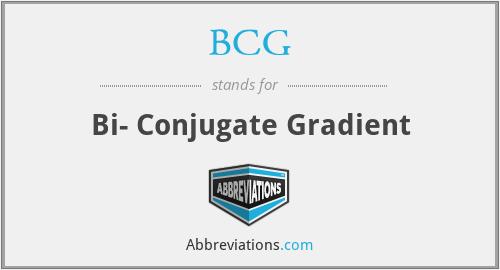 BCG - Bi- Conjugate Gradient