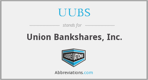 UUBS - Union Bankshares, Inc.