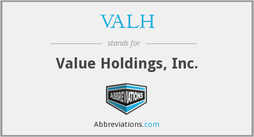 VALH - Value Holdings, Inc.