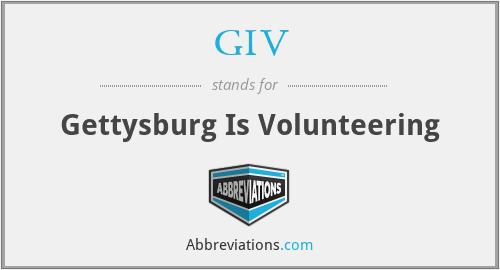 GIV - Gettysburg Is Volunteering