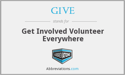 GIVE - Get Involved Volunteer Everywhere