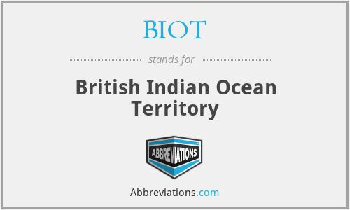 BIOT - British Indian Ocean Territory