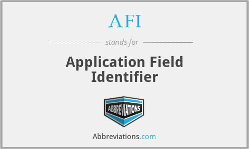 AFI - Application Field Identifier