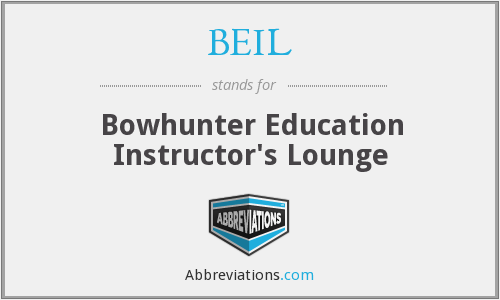 BEIL - Bowhunter Education Instructor's Lounge