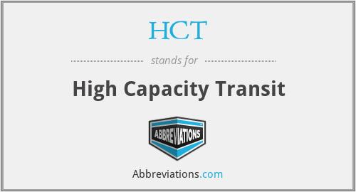 HCT - High Capacity Transit