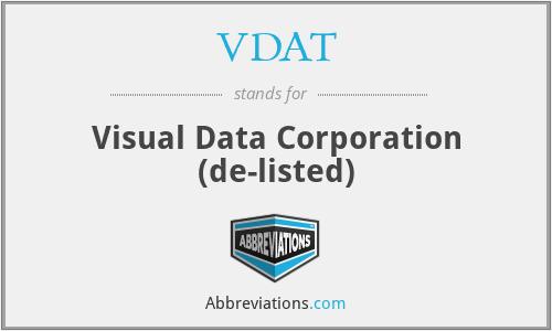 VDAT - Visual Data Corporation