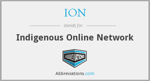 ION - Indigenous Online Network