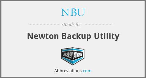 NBU - Newton Backup Utility