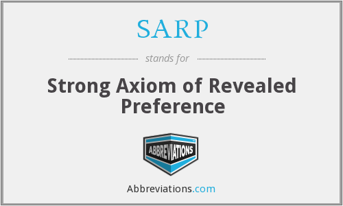 SARP - Strong Axiom of Revealed Preference
