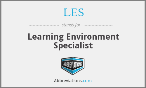 LES - Learning Environment Specialist