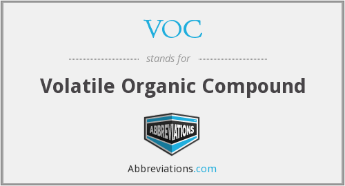 VOC - Volatile Organic Compound