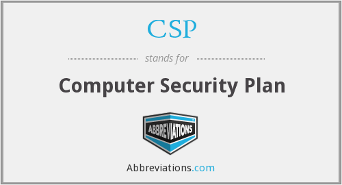 CSP - Computer Security Plan
