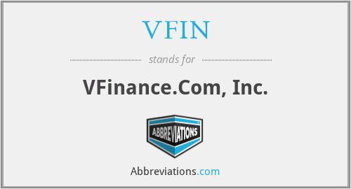 VFIN - VFinance.Com, Inc.