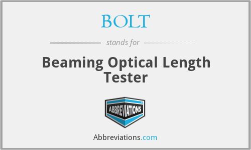 BOLT - Beaming Optical Length Tester