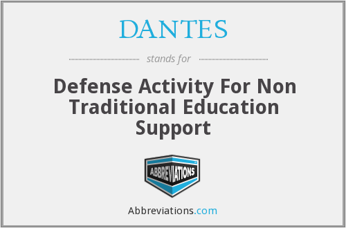 DANTES - Defense Activity For Non Traditional Education Support