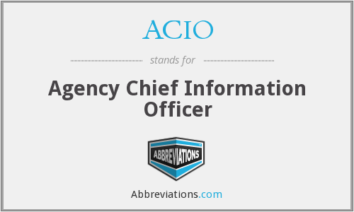 ACIO - Agency Chief Information Officer