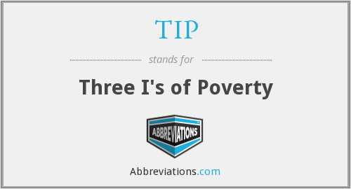 TIP - Three I's of Poverty