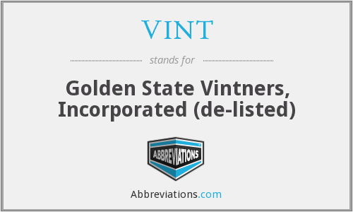 What does VINT stand for?