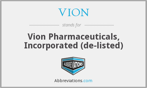 What does VION stand for?
