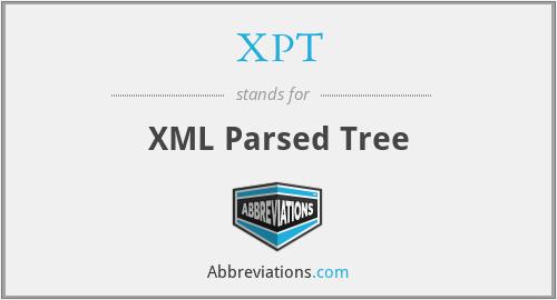 XPT - XML Parsed Tree