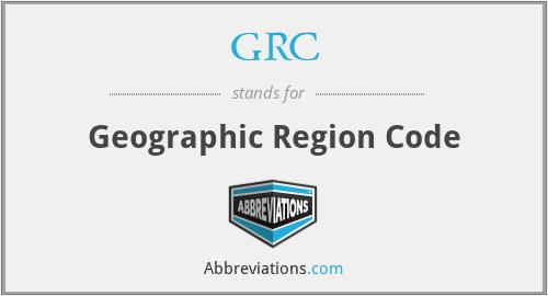 GRC - Geographic Region Code
