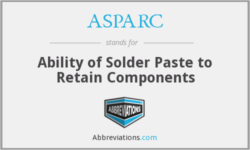 ASPARC - Ability of Solder Paste to Retain Components