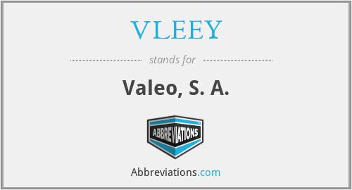 VLEEY - Valeo, S. A.