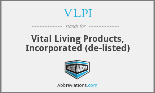 VLPI - Vital Living Products, Inc.