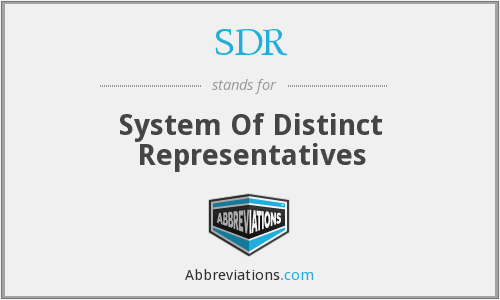 SDR - System Of Distinct Representatives