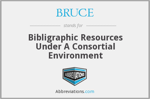 BRUCE - Bibligraphic Resources Under A Consortial Environment