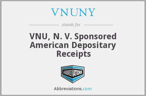 VNUNY - VNU, N. V. Sponsored American Depositary Receipts