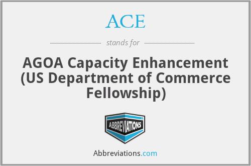 ACE - AGOA Capacity Enhancement (US Department of Commerce Fellowship)