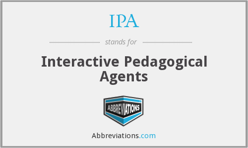 IPA - Interactive Pedagogical Agents