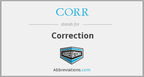 What does CORR stand for?
